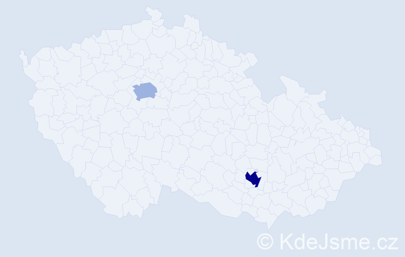 Příjmení: 'Courtisová', počet výskytů 3 v celé ČR