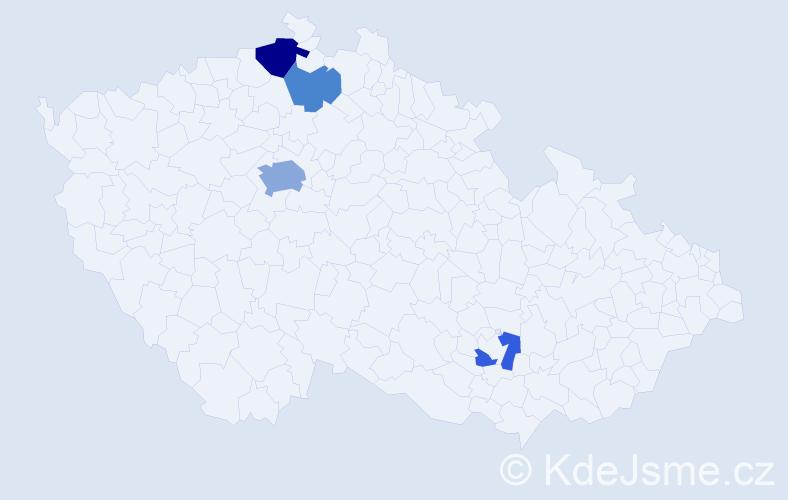 Příjmení: 'Čisláková', počet výskytů 8 v celé ČR