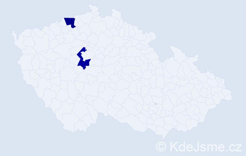 Příjmení: 'Ďačenková', počet výskytů 4 v celé ČR