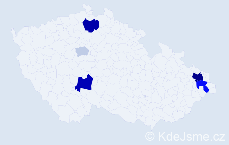 Příjmení: 'Dražina', počet výskytů 7 v celé ČR