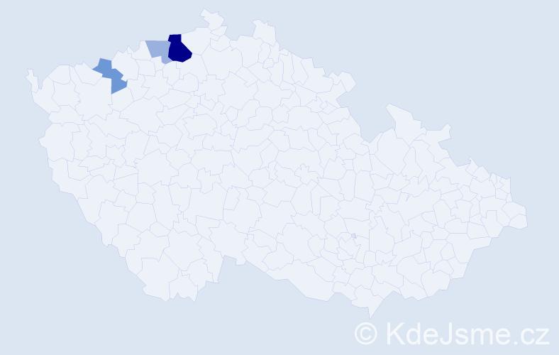 Příjmení: 'Imbrušová', počet výskytů 8 v celé ČR