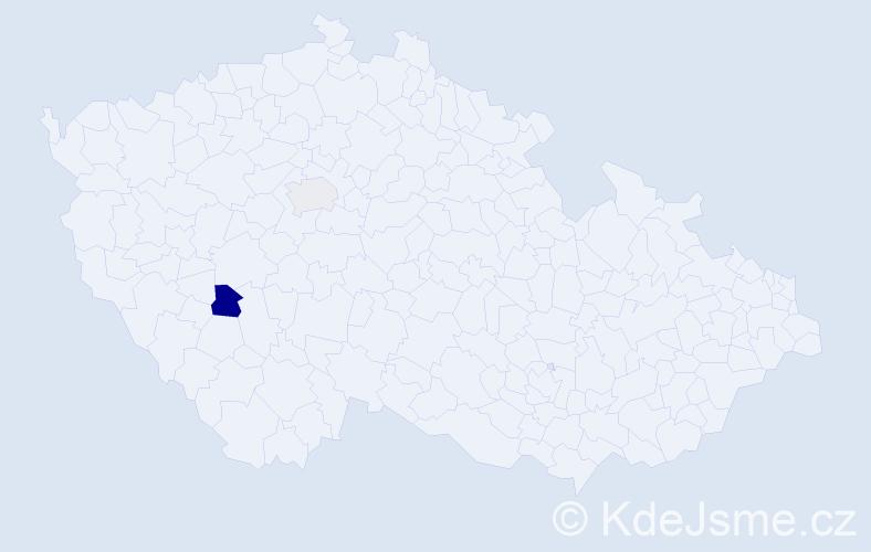 Příjmení: 'Lassner', počet výskytů 3 v celé ČR