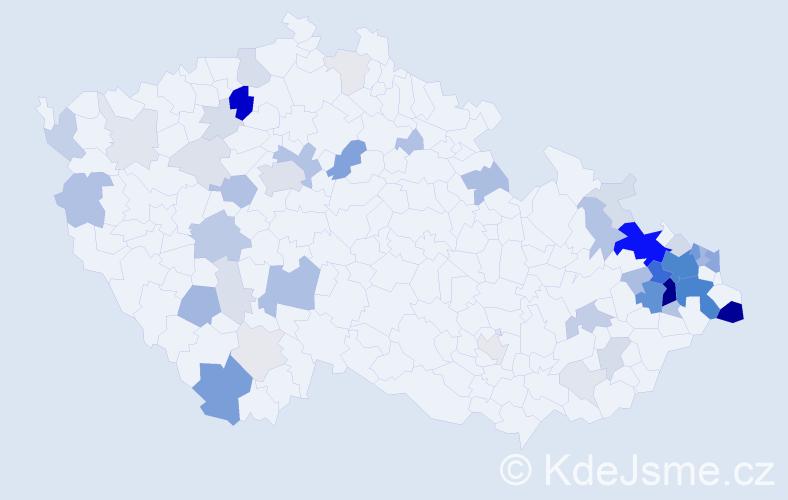 Příjmení: 'Friedel', počet výskytů 214 v celé ČR