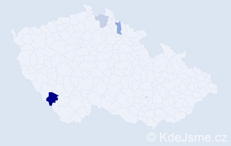 Příjmení: 'Ľachová', počet výskytů 7 v celé ČR