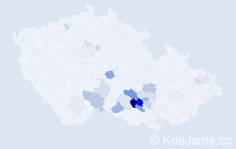 Příjmení: 'Chatrný', počet výskytů 94 v celé ČR