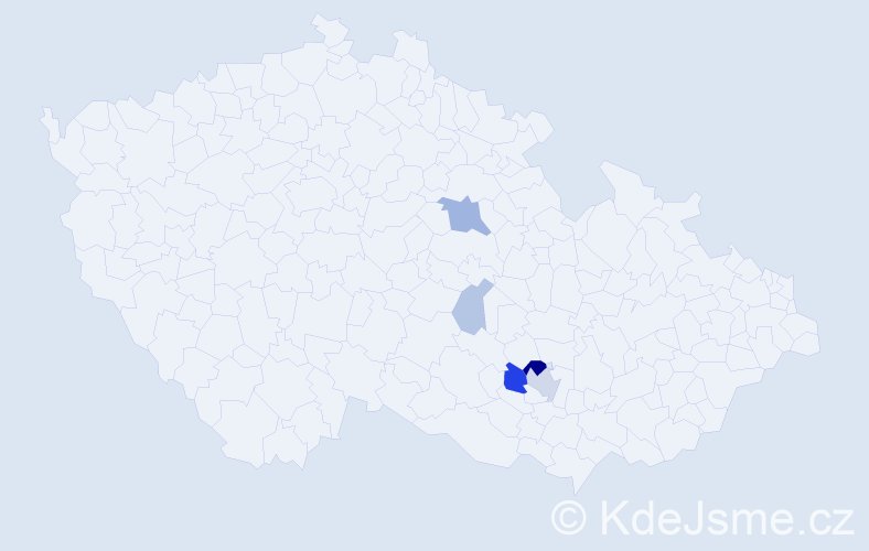 Příjmení: 'Ingršt', počet výskytů 14 v celé ČR