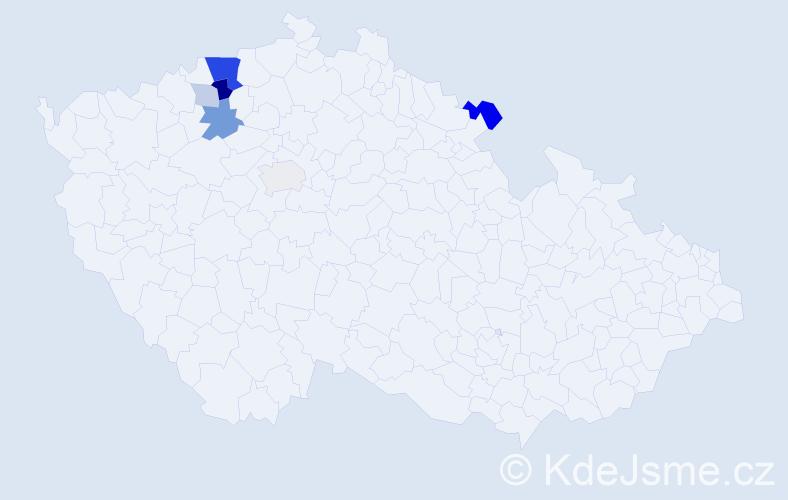 Příjmení: 'Kohlschütter', počet výskytů 17 v celé ČR