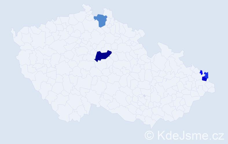 Příjmení: 'Čálik', počet výskytů 11 v celé ČR