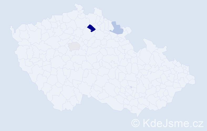 Příjmení: 'Dudinská', počet výskytů 5 v celé ČR