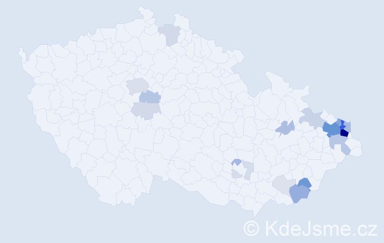 Příjmení: 'Koběrská', počet výskytů 88 v celé ČR
