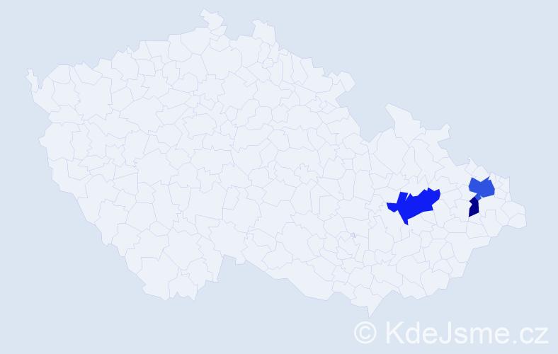 Příjmení: 'Janiak', počet výskytů 6 v celé ČR