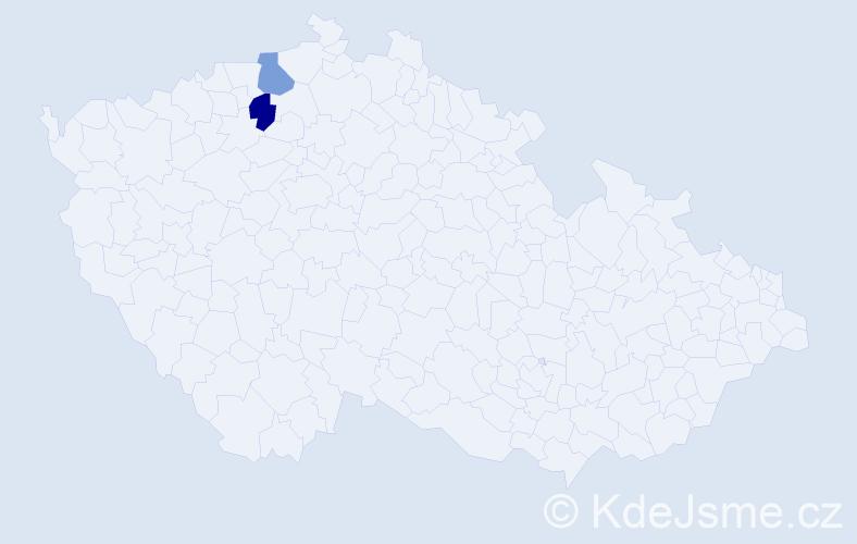 Příjmení: 'Dongala', počet výskytů 2 v celé ČR