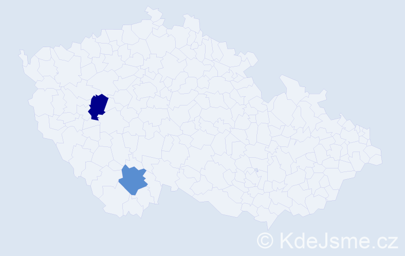 Příjmení: 'Bavúr', počet výskytů 2 v celé ČR