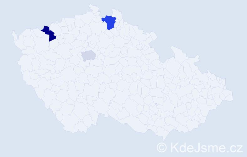 Příjmení: 'Khauer', počet výskytů 7 v celé ČR