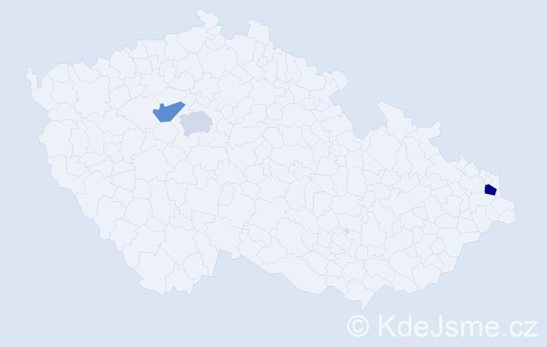 Příjmení: 'Bedlovič', počet výskytů 4 v celé ČR