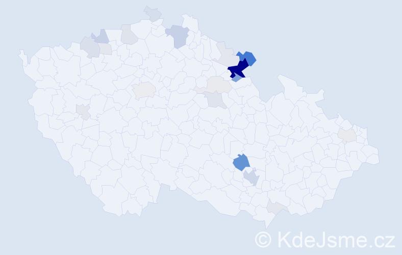 Příjmení: 'Ansorge', počet výskytů 83 v celé ČR