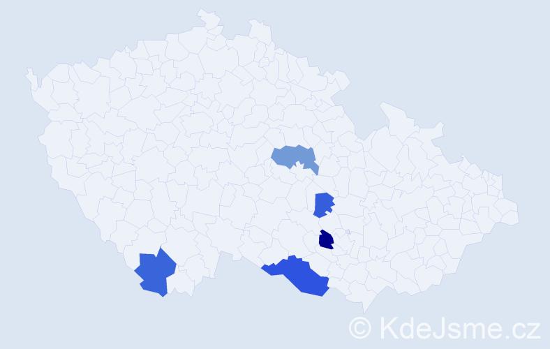 Příjmení: 'Čertková', počet výskytů 11 v celé ČR