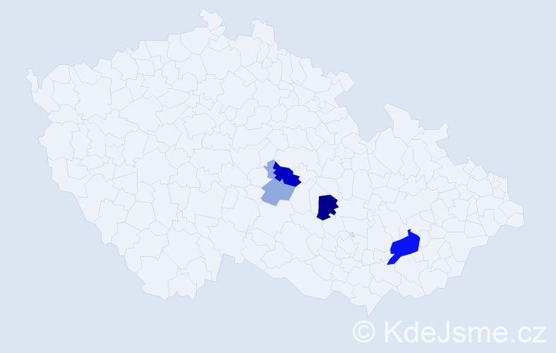 Příjmení: 'Firychová', počet výskytů 10 v celé ČR