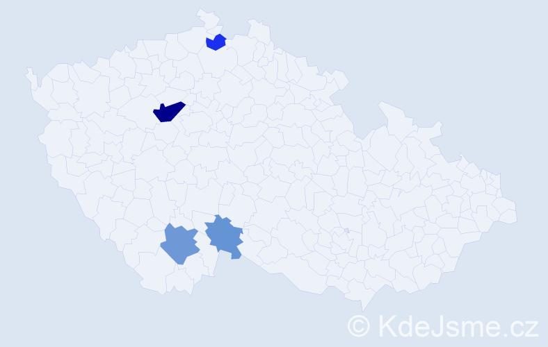 Příjmení: 'Ikavcová', počet výskytů 9 v celé ČR