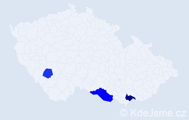 Příjmení: 'Anšlág', počet výskytů 5 v celé ČR