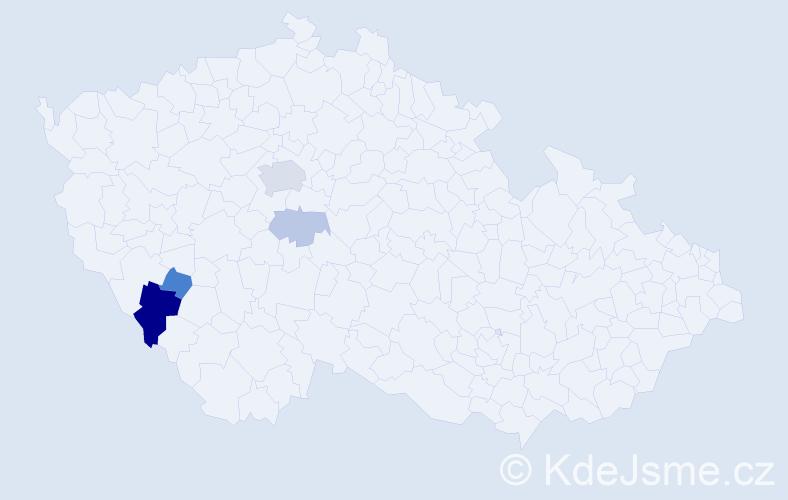 Příjmení: 'Garreisová', počet výskytů 11 v celé ČR