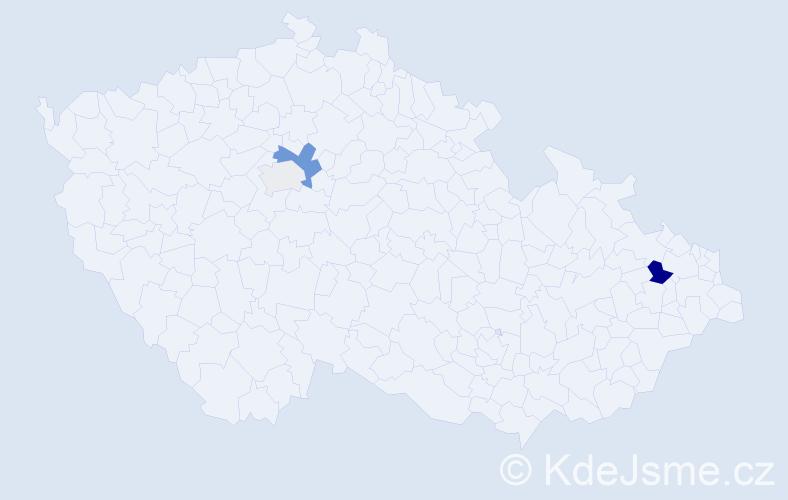 Příjmení: 'Fógelová', počet výskytů 7 v celé ČR