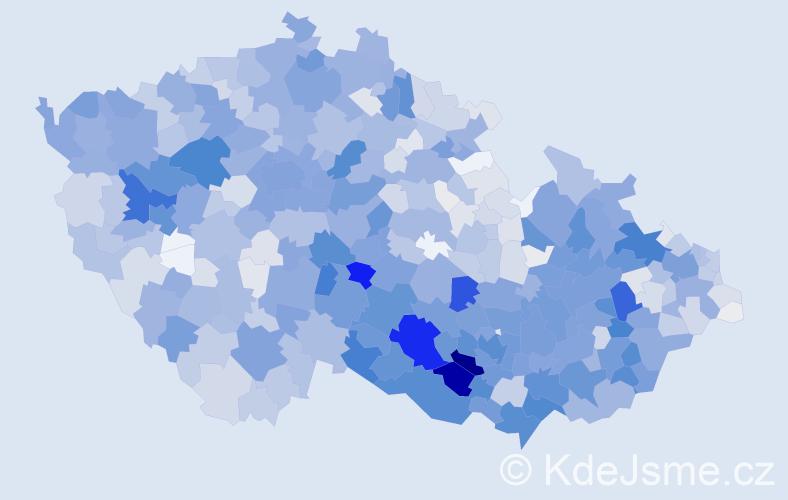 Příjmení: 'Čech', počet výskytů 6414 v celé ČR