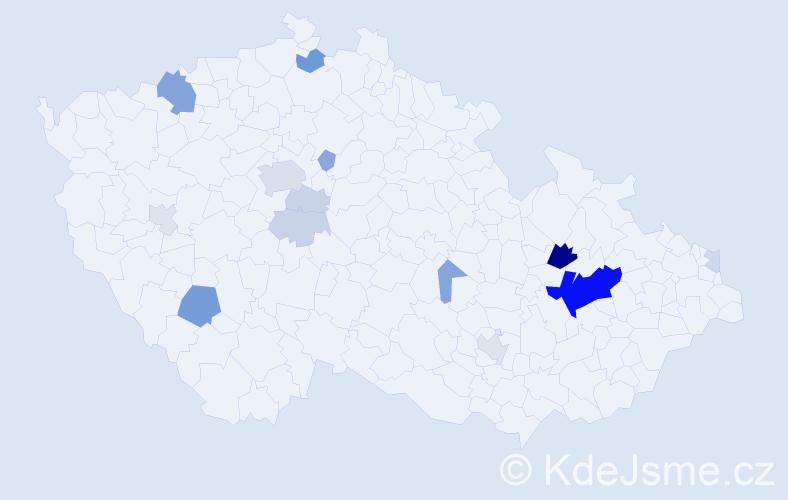 Příjmení: 'Johanesová', počet výskytů 48 v celé ČR