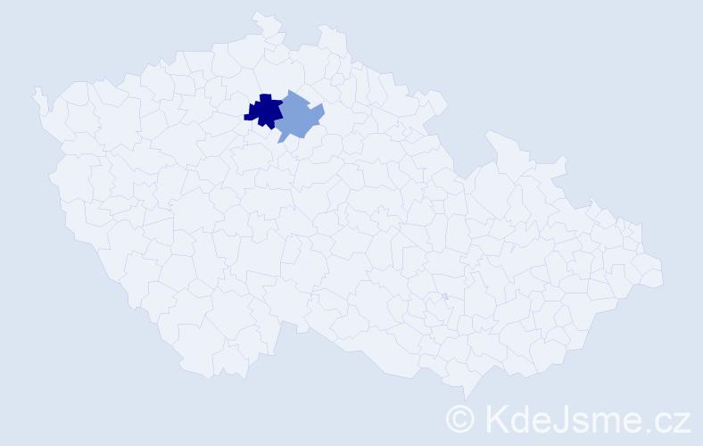 Příjmení: 'Klementisová', počet výskytů 3 v celé ČR