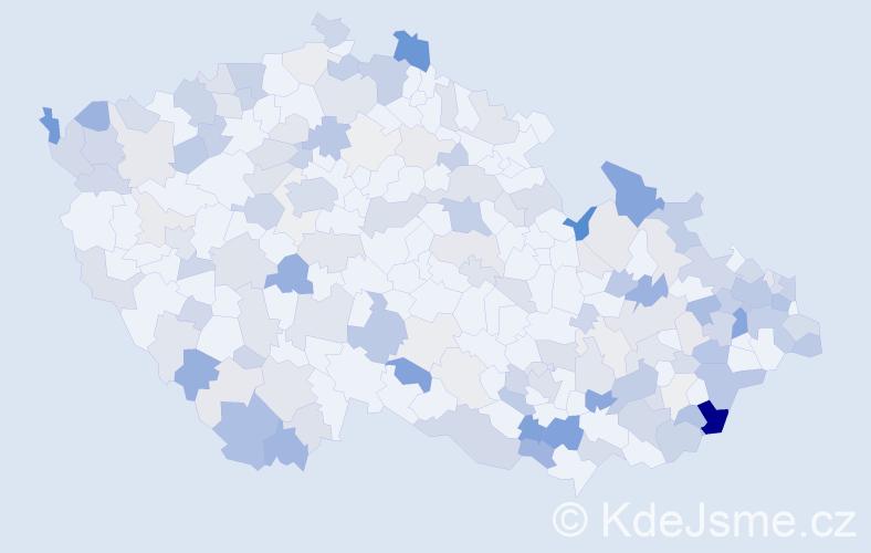 Příjmení: 'Beňo', počet výskytů 510 v celé ČR