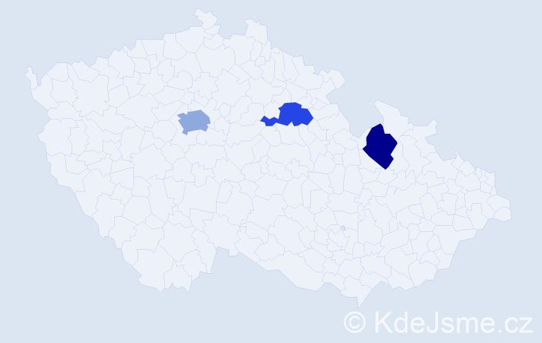 Příjmení: 'Irimičuk', počet výskytů 4 v celé ČR