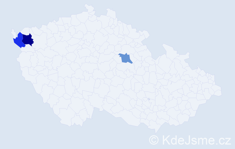 Příjmení: 'Brlášová', počet výskytů 4 v celé ČR