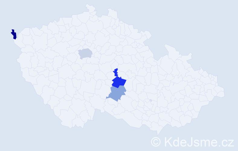 Příjmení: 'Gleixner', počet výskytů 7 v celé ČR