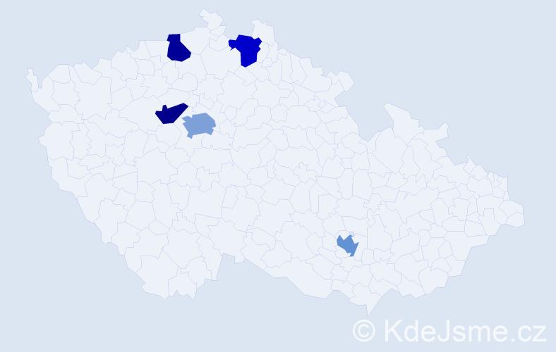 Příjmení: 'Fleming', počet výskytů 6 v celé ČR