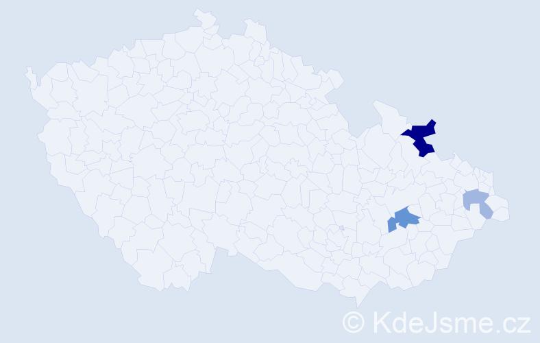 Příjmení: 'Iljaševičová', počet výskytů 6 v celé ČR