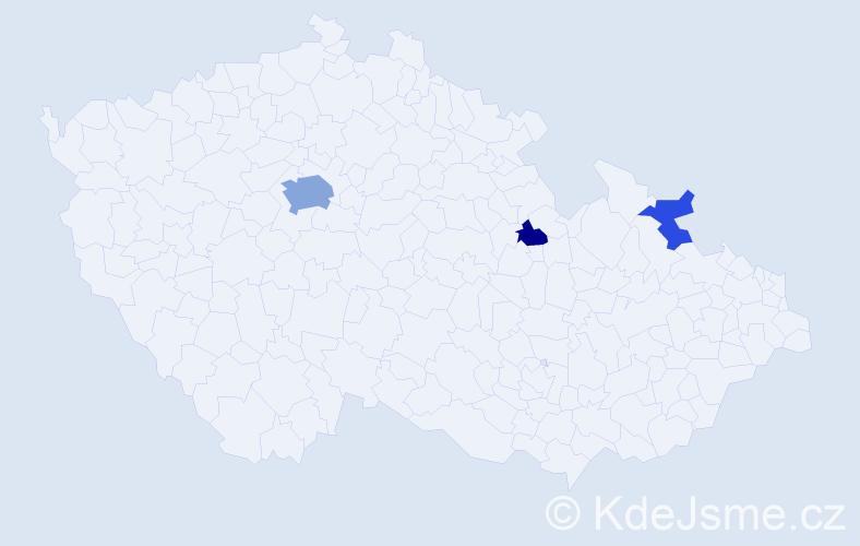 Příjmení: 'Glugar', počet výskytů 8 v celé ČR