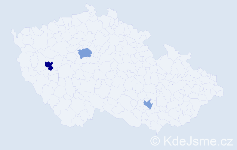 Příjmení: 'Fabuľa', počet výskytů 6 v celé ČR