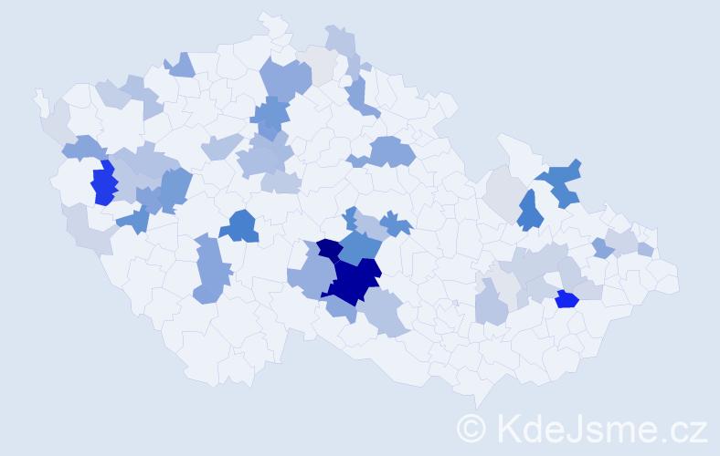 Příjmení: 'Hejsková', počet výskytů 203 v celé ČR