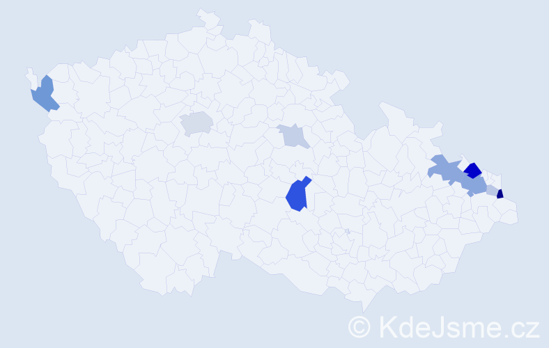 Příjmení: 'Jurašek', počet výskytů 25 v celé ČR