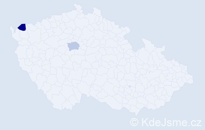 Příjmení: 'Čabrak', počet výskytů 6 v celé ČR