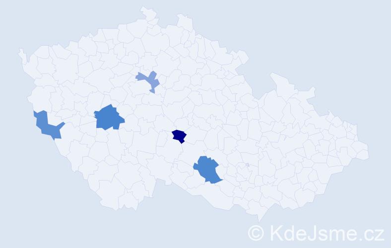 Příjmení: 'Ivaníková', počet výskytů 7 v celé ČR