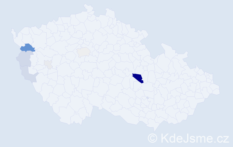 Příjmení: 'Čori', počet výskytů 17 v celé ČR