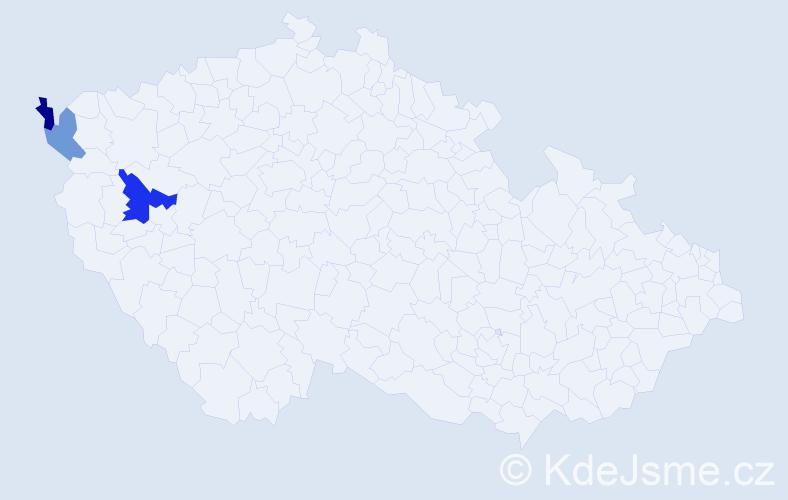Příjmení: 'Kardasová', počet výskytů 4 v celé ČR