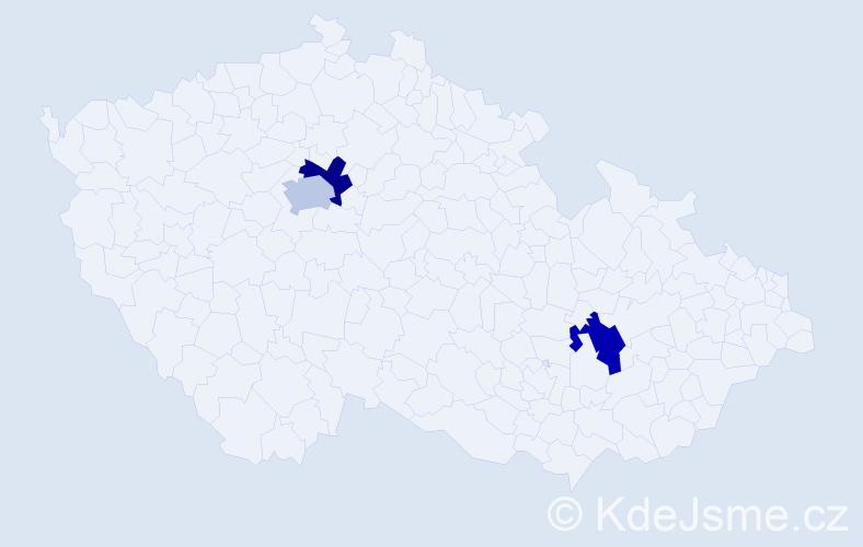 Příjmení: 'Dömisch', počet výskytů 3 v celé ČR