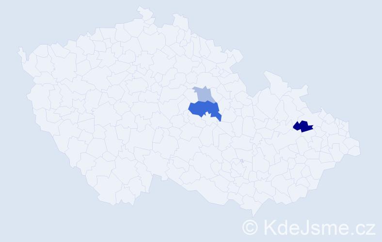 Příjmení: 'Hornýš', počet výskytů 5 v celé ČR