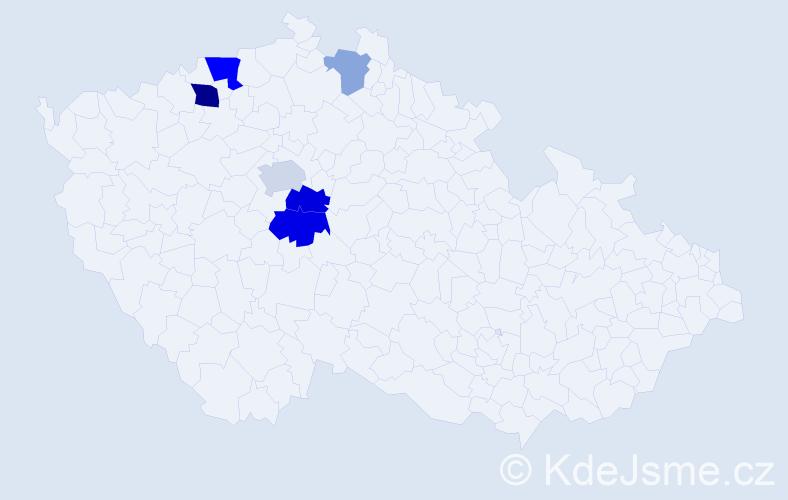 Příjmení: 'Ellschlöger', počet výskytů 13 v celé ČR