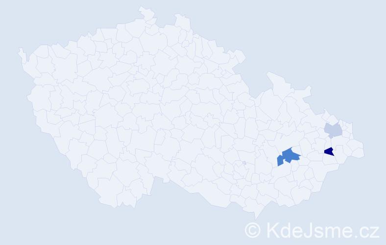 Příjmení: 'Jaichová', počet výskytů 4 v celé ČR