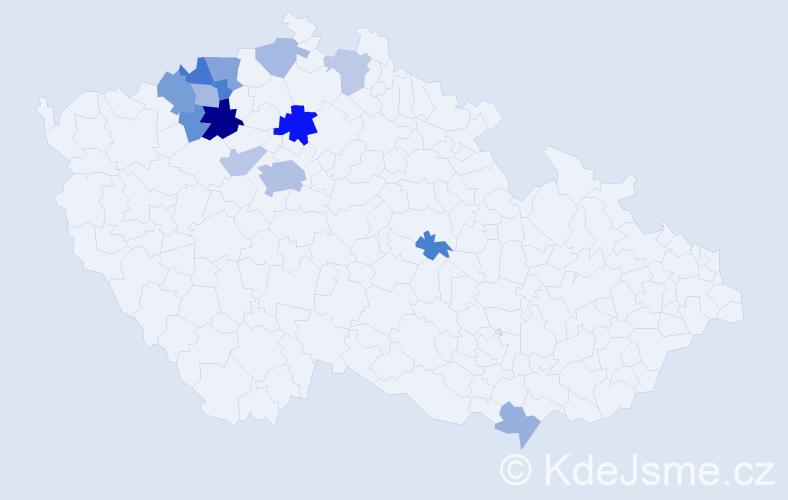 Příjmení: 'Čádová', počet výskytů 29 v celé ČR