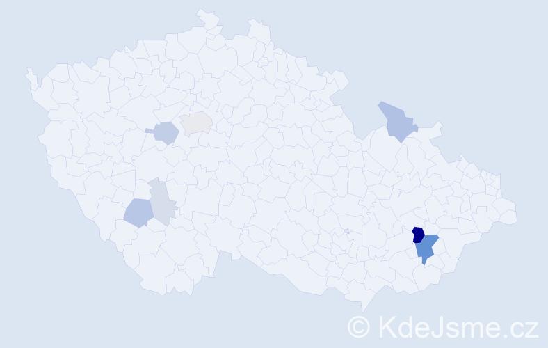 Příjmení: 'Bardoděj', počet výskytů 31 v celé ČR