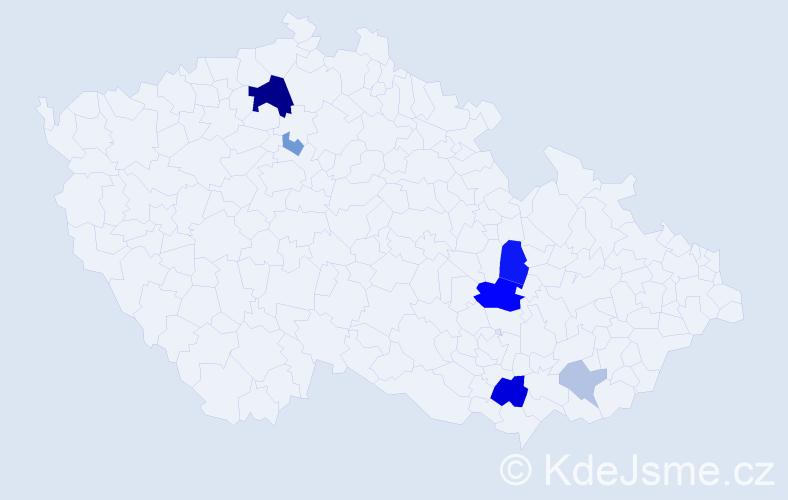 Příjmení: 'Elísková', počet výskytů 17 v celé ČR